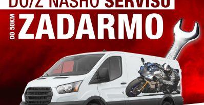 dovoz motocykla zadarmo